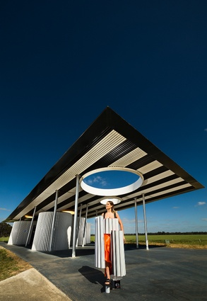 Calder Woodburn rest stop: Goulburn Valley Highway, Shepparton (BKK Architects) by Kimberly Botha and Marcus Shanahan.
