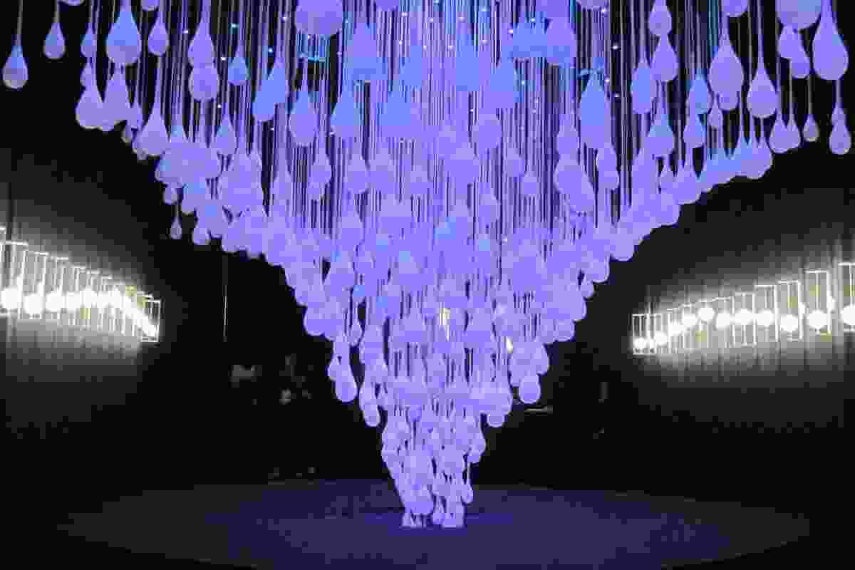 Melogranoblu lighting installation.