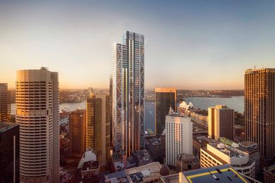 The proposed Circular Quay tower designed by Foster and Partners.