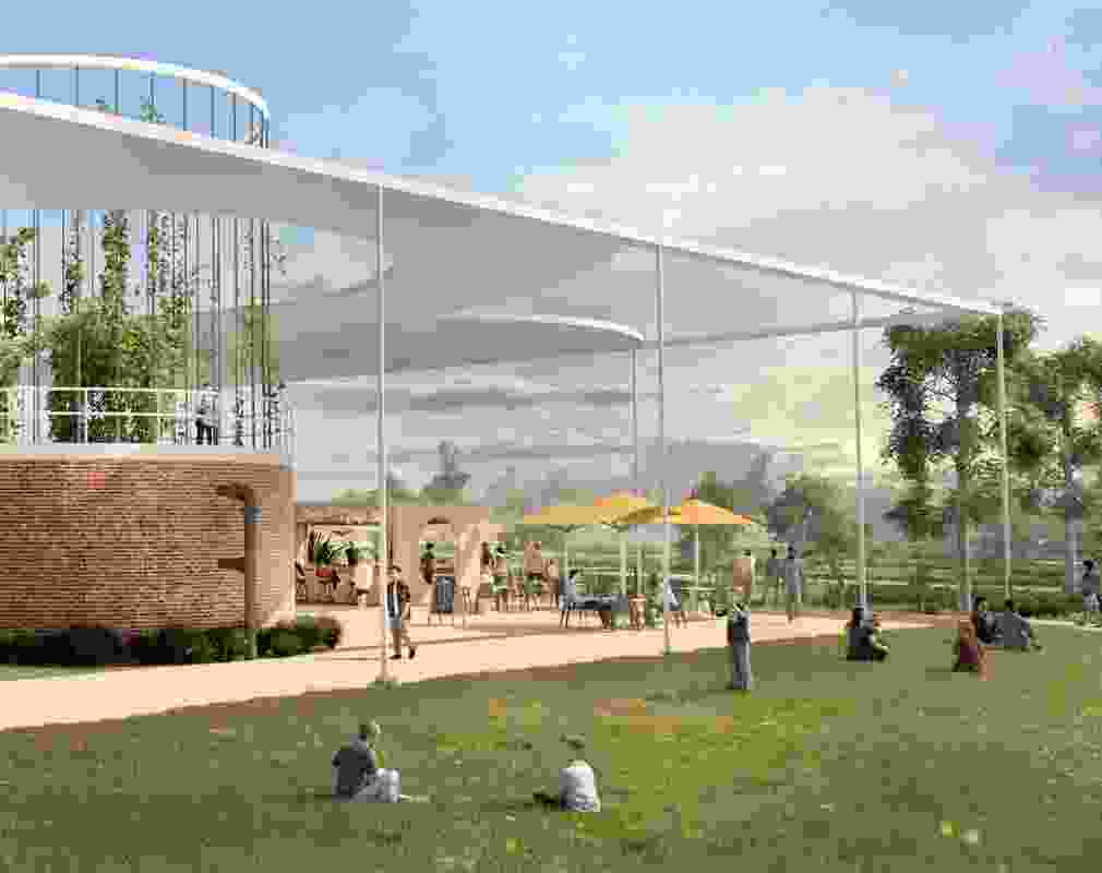 The Atrium, part of Place Design Group's Archerfield Wetlands precinct plan.