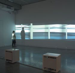 Minifie Nixon Architects. Evolute 2005. Installation view, Monash University Museum of Art.