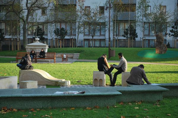 Altab Ali Park, Whitechapel, by Muf Architecture/Art (2011).