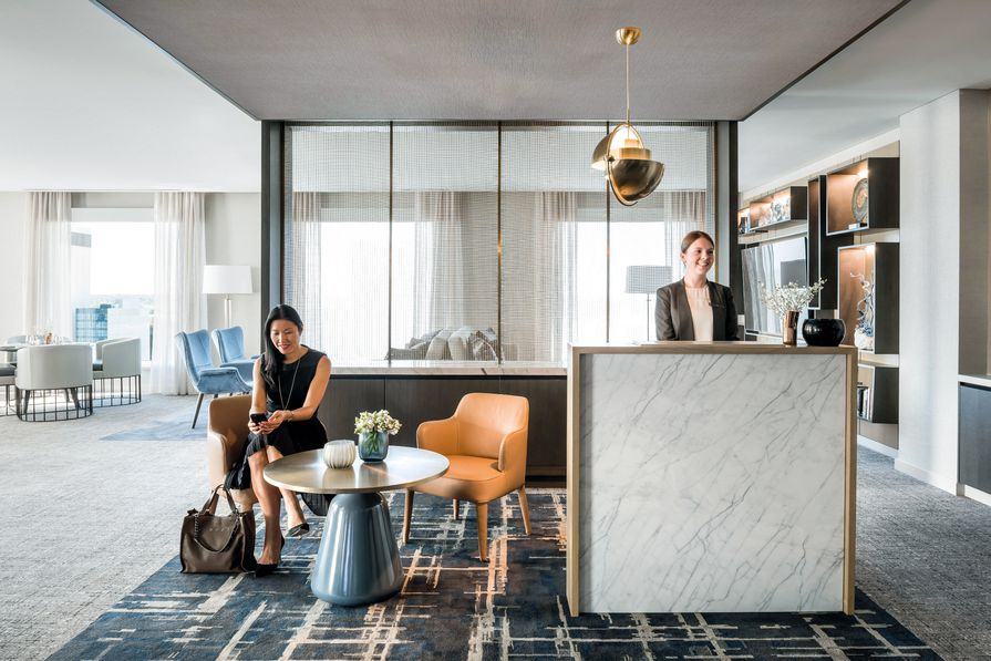 The five-star Intercontinental Perth City Centre has 240 rooms and a penthouse suite.