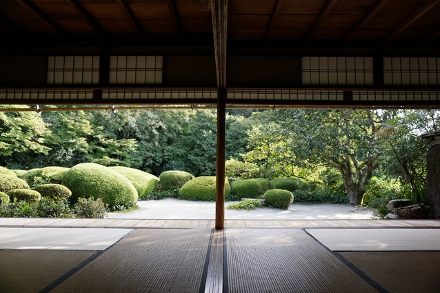 Seamless view to the gardens at Shisen-do Temple, Kyoto.