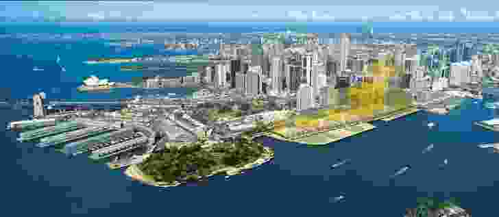 Rogers Stirk Harbour + Partners Barangaroo concept plan, November 2009.
