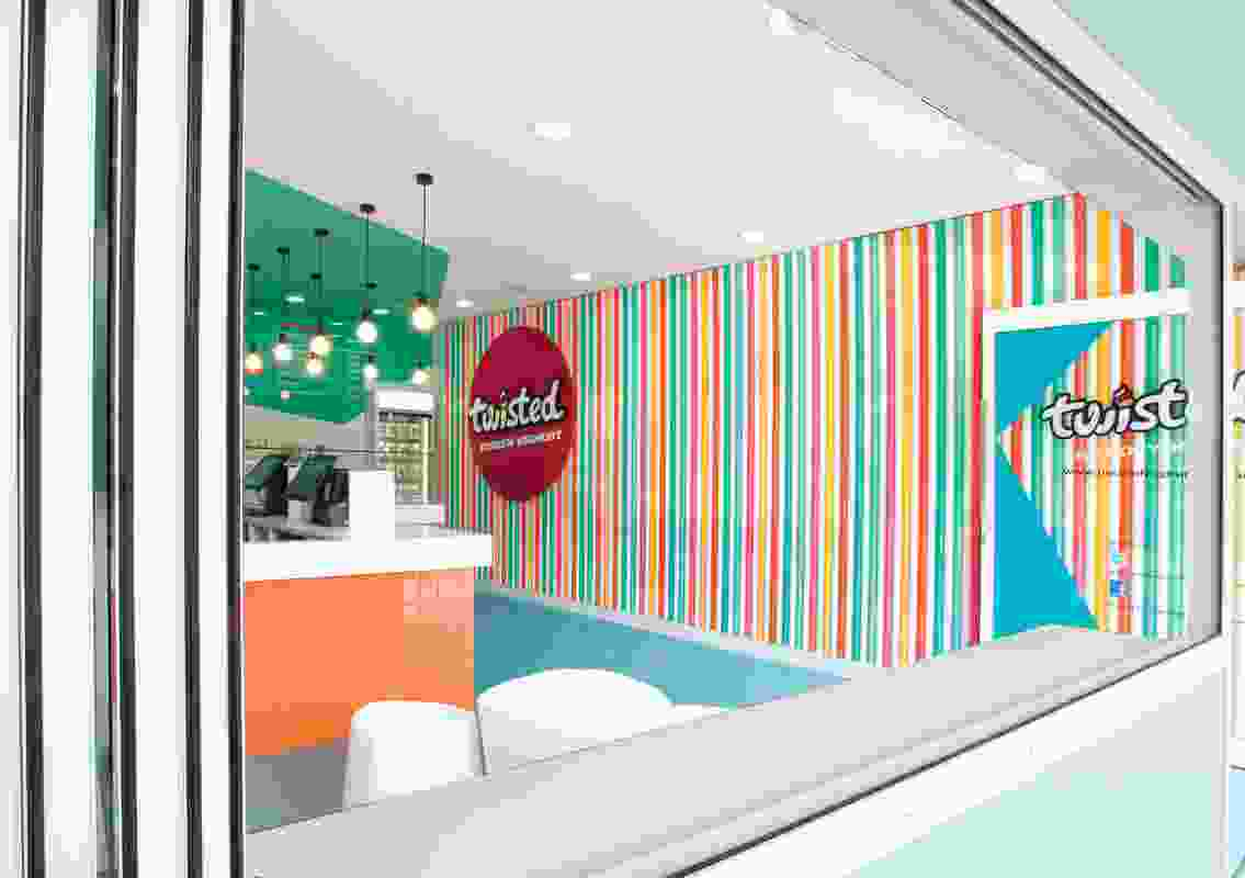 Colour in Commercial Design – Twisted Frozen Yoghurt by Morris Selvatico.