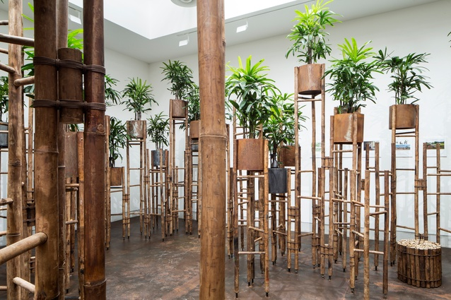 Installation by Vo Trong Nghia Architects in the  Reporting from the Front core exhibition at the 2016 Venice Architecture Biennale.