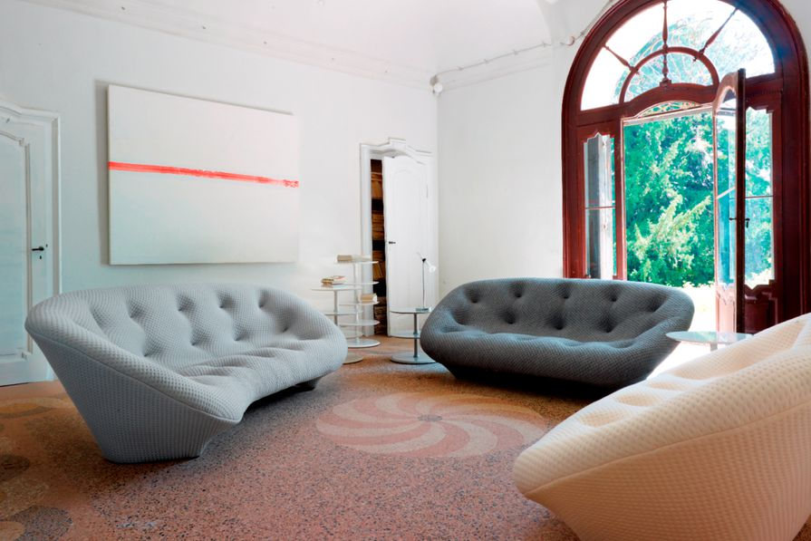 Ploum sofas designed by Ronan and Erwan Bouroullec.