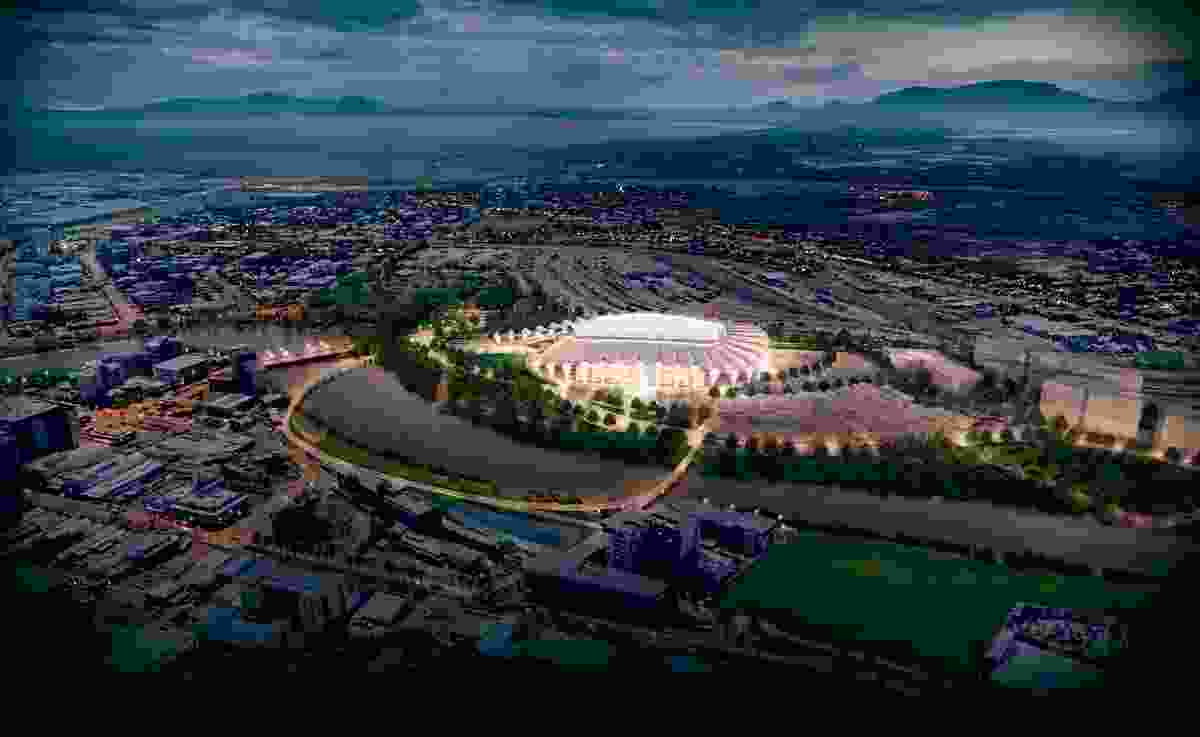 The proposed North Queensland Stadium designed by Cox Architecture and 9Point9 Architects.