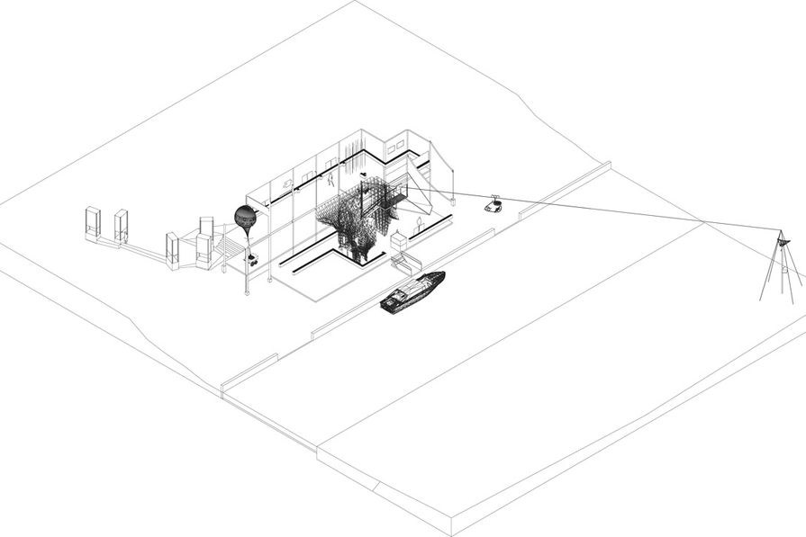 The proposal for the Australian pavilion at the 2012 Venice Architecture Biennale approaches the pavilion as an infrastructure rather than a box that contains the participants.