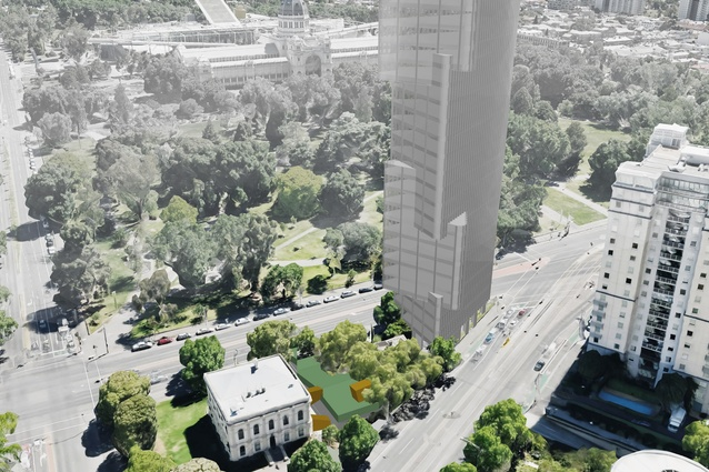 The proposed Magic Tower by Decibel Architecture is sited on a tiny triangle site measuring only 173 square metres.