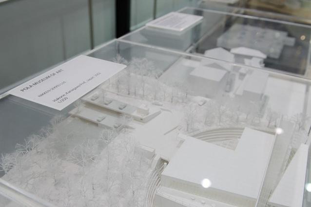 """White school"" model of the Pola Museum of Art in Hakone."