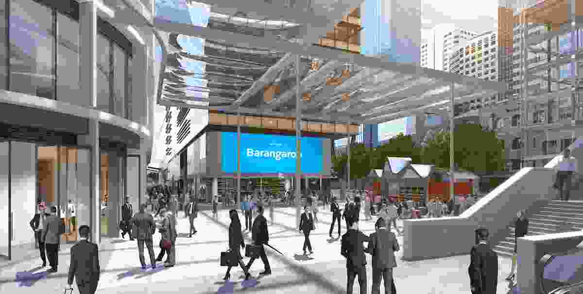 A proposed new square will be the main point of arrival to the Barangaroo South precinct from Wynyard Walk Bridge.
