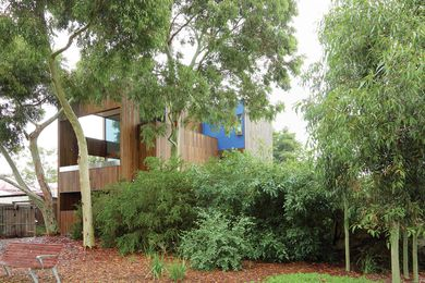 The intention was for the house to be invisible from the park, camouflaged behind the gum trees.