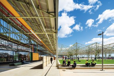 Tonsley Main Assembly Building and Pods by Woods Bagot and Tridente Architects.