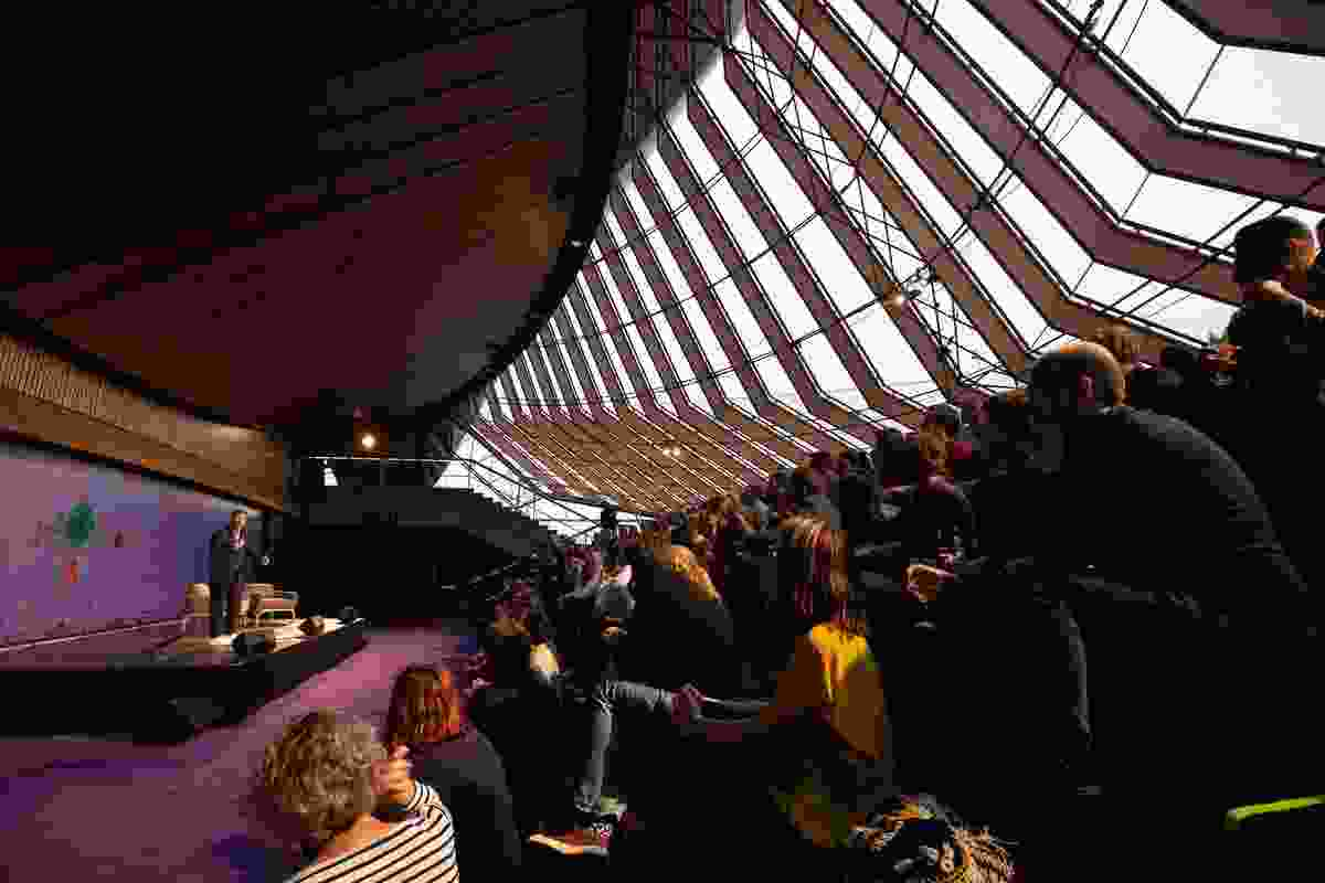 Tim Ross performs at the Sydney Opera House.