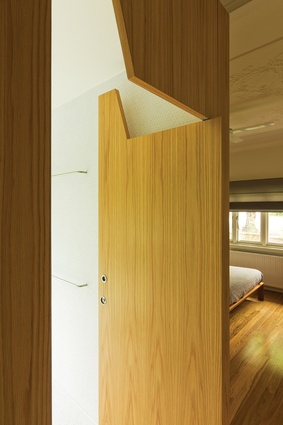 """The main bedroom has a discreet """"timber box"""" ensuite."""
