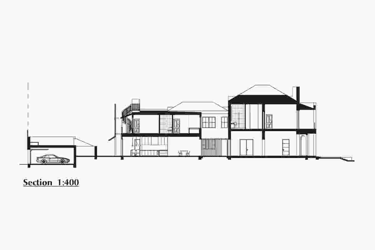 Section of East Melbourne Terrace by Wolveridge Architects.