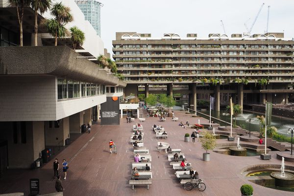 The Barbican in London by Chamberlin, Powell and Bon.