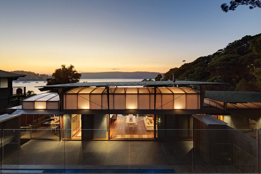 The house forms an intimate connection with the landscape.