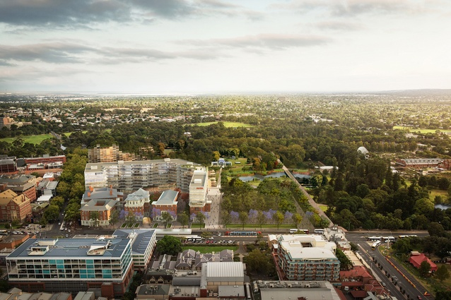 Plans revealed for old royal adelaide hospital site for Residential landscape design adelaide