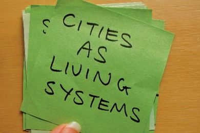 A post-it note from the Green City Forum organized by 5000plus.