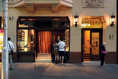 Melbourne: The interior is based on a bespoke gentlemen's salon.