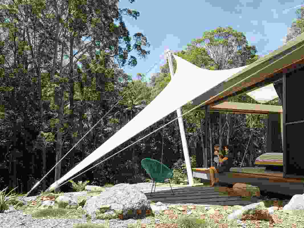 Tent House, the reductive nature of the architecture elicits a heightened experience of its remarkable setting.