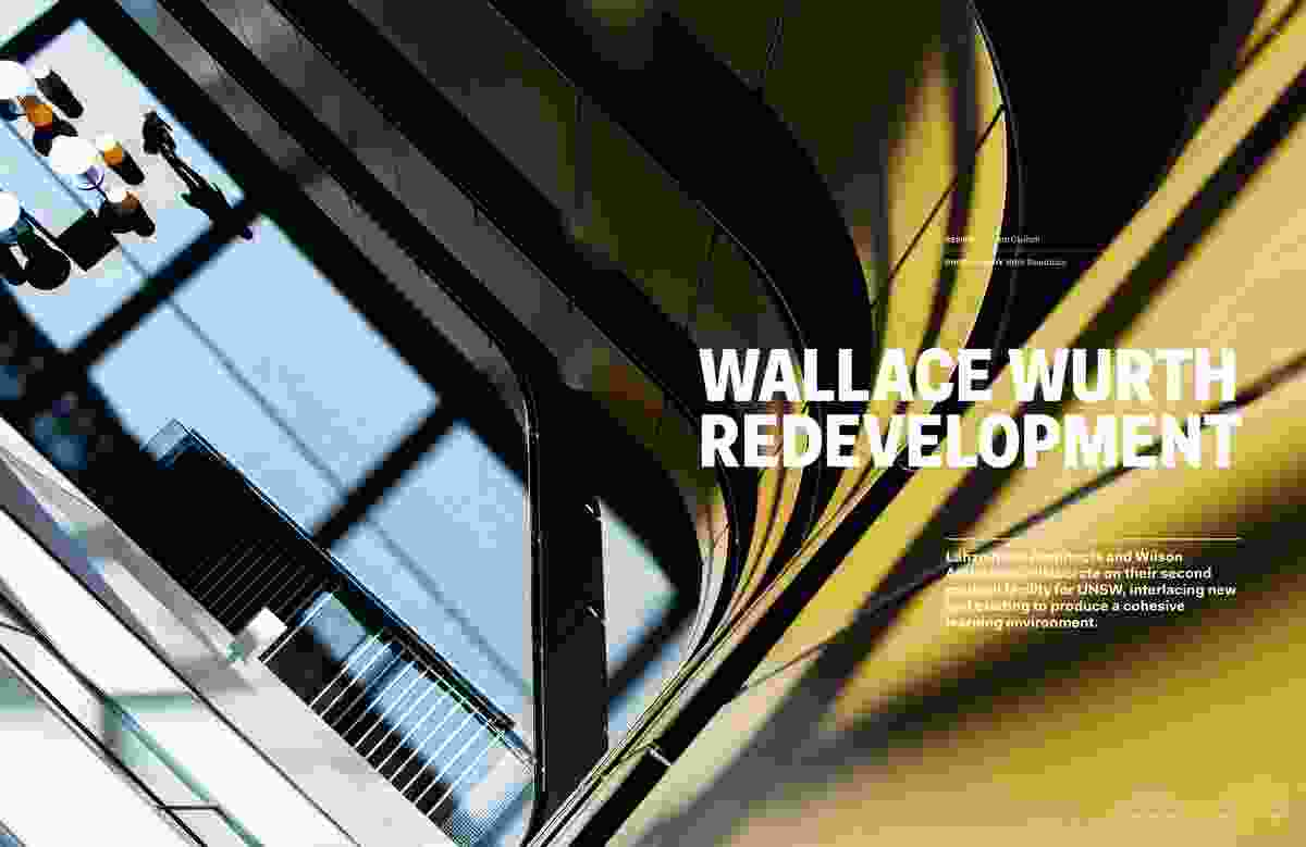 Wallace Wurth Redevelopment by Lahznimmo Architects and Wilson Architects, architects in association.