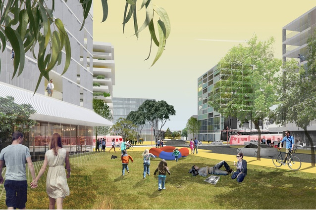K2K proposal – Middle Street park to park by James Mather Delaney Design Landscape Architects, Hill Thalis Architecture and Urban Projects, Bennett and Trimble Architecture and Urban Projects.