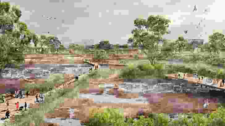 A possible wetlands outcome from the plan in E-Gate.