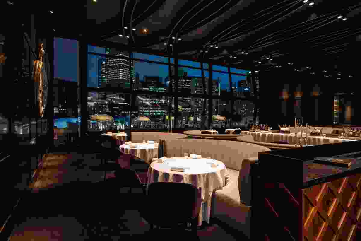 The Fat Duck Melbourne has views of the Yarra River and Melbourne skyline.