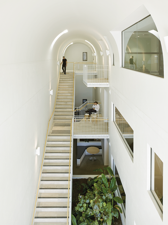 The atrium is an interactive space that acts as a sanctuary for its occupants.