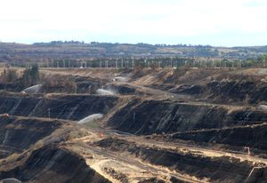 The Hazelwood mine will fill with water once it's closed.