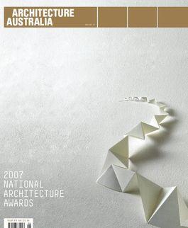 Architecture Australia, November 2007