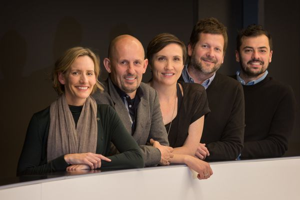 From left: Abbie Galvin, principal at BVN Architecture; Jon Clements (chair), Immediate Past National President of the Australian Institute of Architects and director at Jackson Clements Burrows; Fenella Kernebone, freelance curator/producer/journalist; Stuart Vokes, director at Vokes and Peters; and Rodney Eggleston, founding director of March Studio.
